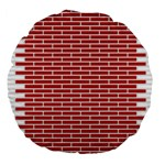 Brick Lake Dusia Texture Large 18  Premium Flano Round Cushions Front