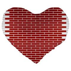 Brick Lake Dusia Texture Large 19  Premium Flano Heart Shape Cushions