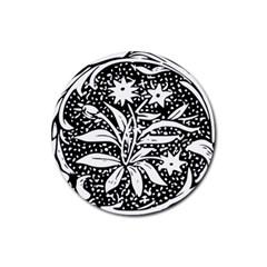 Decoration Pattern Design Flower Rubber Round Coaster (4 pack)