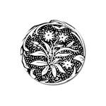 Decoration Pattern Design Flower Magnet 3  (Round) Front