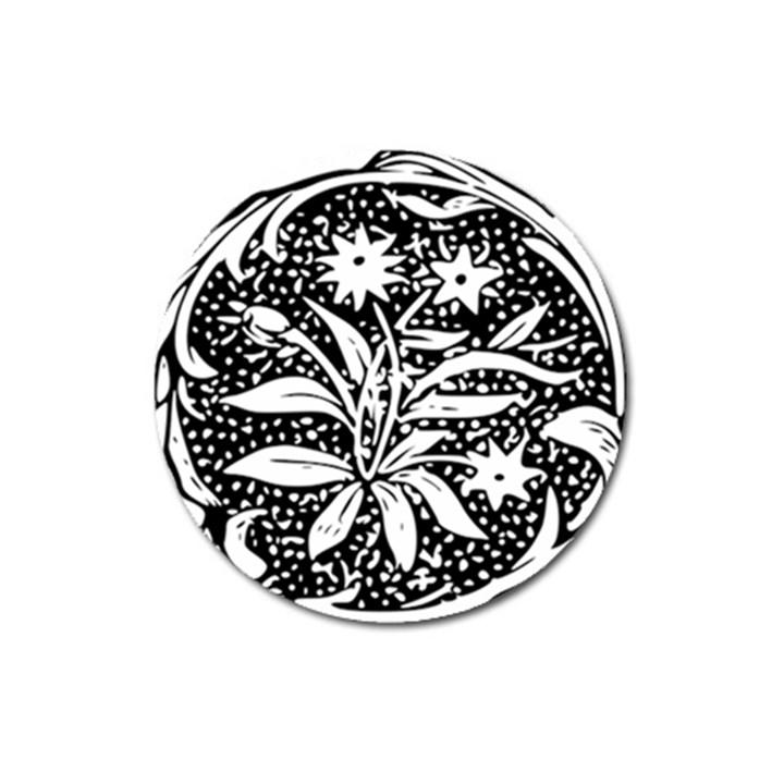 Decoration Pattern Design Flower Magnet 3  (Round)