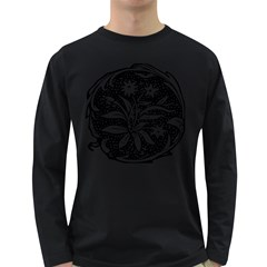 Decoration Pattern Design Flower Long Sleeve Dark T Shirts