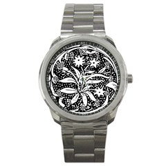 Decoration Pattern Design Flower Sport Metal Watch