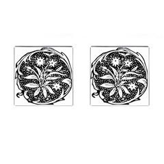 Decoration Pattern Design Flower Cufflinks (square)
