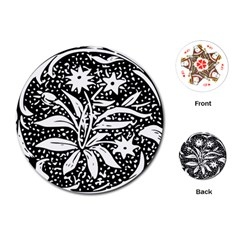Decoration Pattern Design Flower Playing Cards (round)