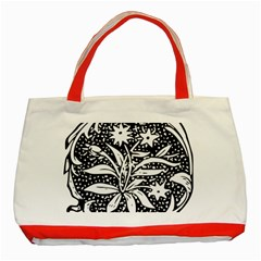 Decoration Pattern Design Flower Classic Tote Bag (Red)