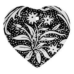Decoration Pattern Design Flower Heart Ornament (two Sides)