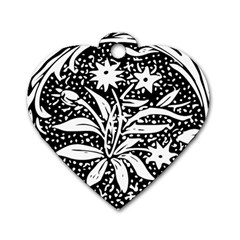 Decoration Pattern Design Flower Dog Tag Heart (one Side)