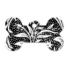 Decoration Pattern Design Flower Dog Tag Bone (one Side)