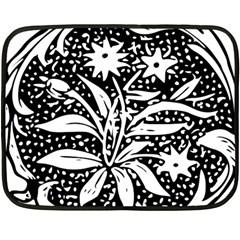 Decoration Pattern Design Flower Fleece Blanket (mini)