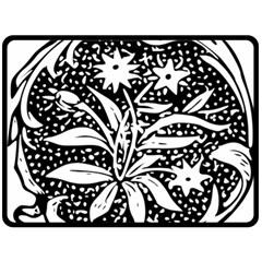 Decoration Pattern Design Flower Fleece Blanket (large)