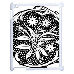 Decoration Pattern Design Flower Apple Ipad 2 Case (white)
