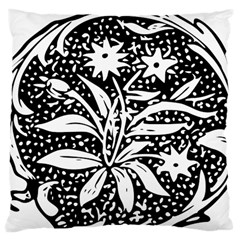 Decoration Pattern Design Flower Large Cushion Case (one Side)