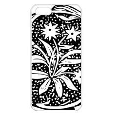 Decoration Pattern Design Flower Apple Iphone 5 Seamless Case (white)