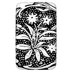 Decoration Pattern Design Flower Samsung Galaxy Tab 3 (8 ) T3100 Hardshell Case