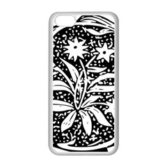 Decoration Pattern Design Flower Apple Iphone 5c Seamless Case (white)