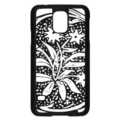 Decoration Pattern Design Flower Samsung Galaxy S5 Case (black)