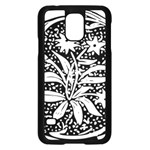 Decoration Pattern Design Flower Samsung Galaxy S5 Case (Black) Front