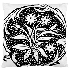 Decoration Pattern Design Flower Large Flano Cushion Case (one Side)