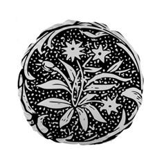Decoration Pattern Design Flower Standard 15  Premium Flano Round Cushions