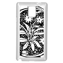 Decoration Pattern Design Flower Samsung Galaxy Note 4 Case (white)