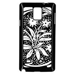 Decoration Pattern Design Flower Samsung Galaxy Note 4 Case (black)