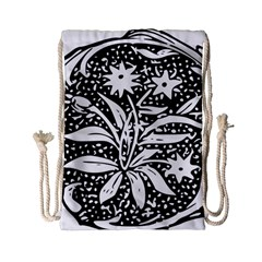 Decoration Pattern Design Flower Drawstring Bag (small)