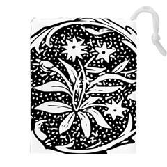 Decoration Pattern Design Flower Drawstring Pouches (xxl)