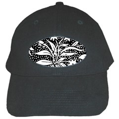 Decoration Pattern Design Flower Black Cap
