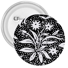 Decoration Pattern Design Flower 3  Buttons