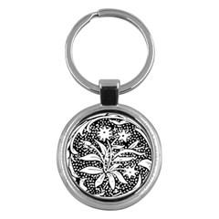 Decoration Pattern Design Flower Key Chains (round)