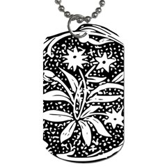 Decoration Pattern Design Flower Dog Tag (two Sides)