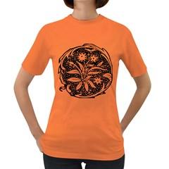 Decoration Pattern Design Flower Women s Dark T Shirt