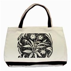 Decoration Pattern Design Flower Basic Tote Bag