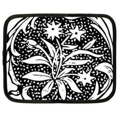 Decoration Pattern Design Flower Netbook Case (large)