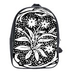 Decoration Pattern Design Flower School Bags(Large)  Front