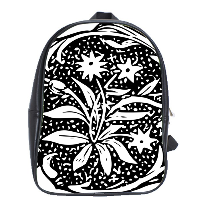 Decoration Pattern Design Flower School Bags(Large)