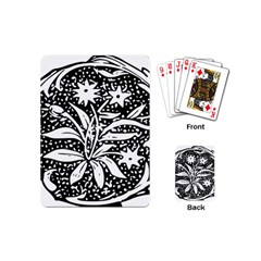 Decoration Pattern Design Flower Playing Cards (mini)