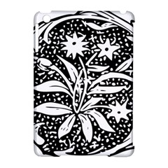 Decoration Pattern Design Flower Apple Ipad Mini Hardshell Case (compatible With Smart Cover)