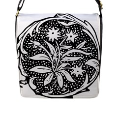 Decoration Pattern Design Flower Flap Messenger Bag (l)