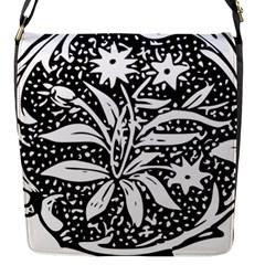 Decoration Pattern Design Flower Flap Messenger Bag (s)
