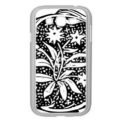 Decoration Pattern Design Flower Samsung Galaxy Grand Duos I9082 Case (white)