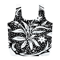 Decoration Pattern Design Flower Full Print Recycle Bags (l)