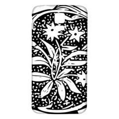 Decoration Pattern Design Flower Samsung Galaxy S5 Back Case (white)