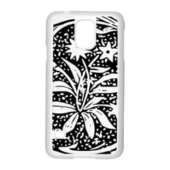 Decoration Pattern Design Flower Samsung Galaxy S5 Case (white)