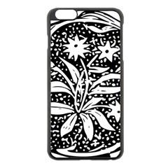 Decoration Pattern Design Flower Apple Iphone 6 Plus/6s Plus Black Enamel Case