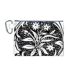 Decoration Pattern Design Flower Canvas Cosmetic Bag (m)