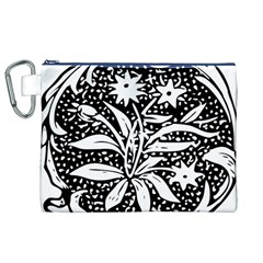 Decoration Pattern Design Flower Canvas Cosmetic Bag (xl)
