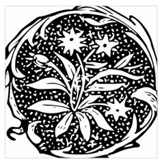 Decoration Pattern Design Flower Large Satin Scarf (square)