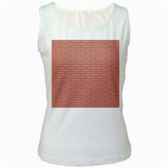 Brick Lake Dusia Wall Women s White Tank Top